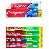 【Colgate 高露潔】三效合一牙膏(200g*12)+高效潔淨細毛牙刷*12