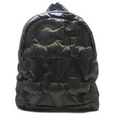 CHANEL 香奈兒 鐵灰色CHANEL字樣尼龍空氣後背包 Doudoune Backpack 【BRAND OFF】
