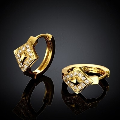 耳環 玫瑰金純銀 鑲鑽-個性創意民族風格生日情人節禮物女飾品2色73bu50【時尚巴黎】