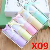 純棉質面料可愛蕾絲低腰性感大碼三角禮盒裝內褲女 YX1247『小美日記』