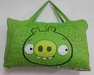 【貝淇小舖】 ~2013 台灣精製 【ANGRY BIRDS】綠豬 標準兒童睡袋~加大款