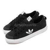 adidas 休閒鞋 Nizza Trefoil 黑 白 女鞋 三葉草 帆布鞋 運動鞋 【ACS】 FW5185