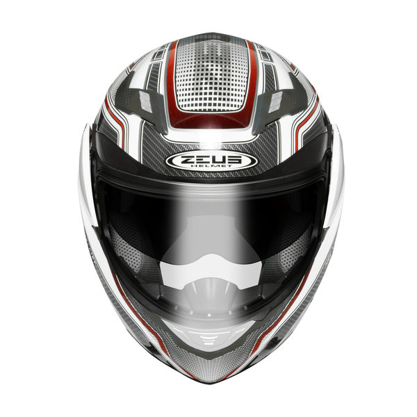 ZEUS 瑞獅安全帽,ZS3100,YY5/白紅