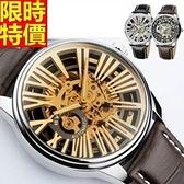 機械錶-陀飛輪自動鏤空時尚前衛個性男腕錶3色66ab2【時尚巴黎】