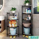 浴室置物架衛生間臉盆架廁所洗手間收納架子多層三角架落地式神器【海闊天空】