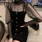 洋裝宴會氣質女年會小禮服裙平時可穿心機赫本風黑色吊帶小洋裝洋裝(快速出貨)
