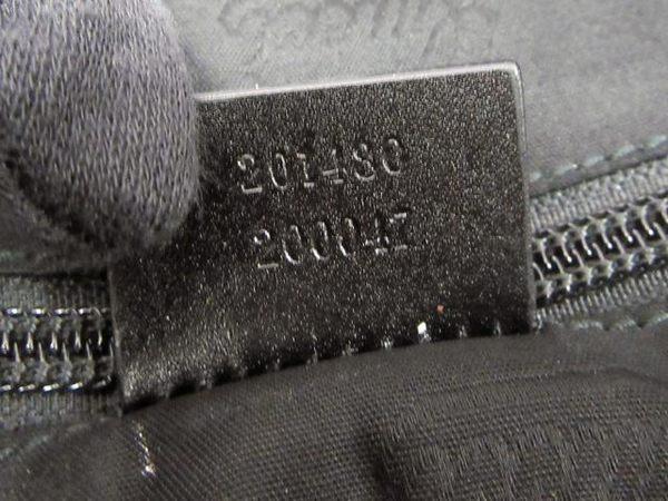 GUCCI 古馳 黑色 亮面PVC壓紋手提公事包 GG  Imprime 201480【BRAND OFF】