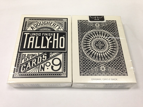 TALLY-HO 撲克牌 圓背 特製黑背 新版無條碼