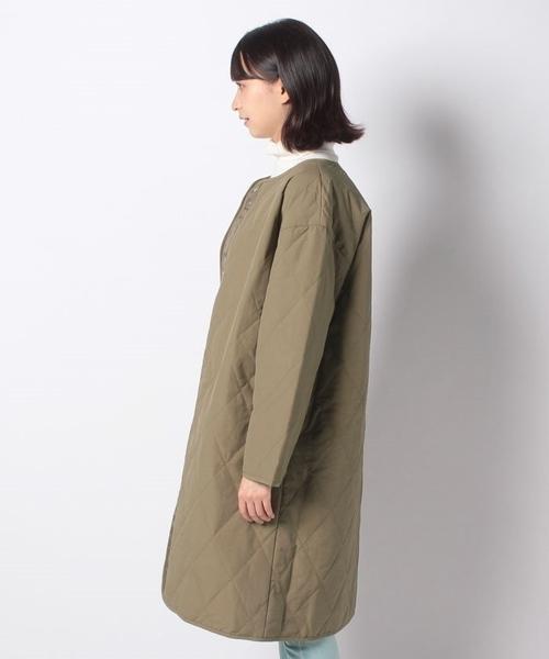 「Winter」菱格紋長版绗縫外套 - Green Parks