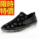 懶人皮鞋時髦自信-細緻克羅心風靡時尚樂福男鞋子2色59p36【巴黎精品】