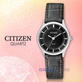 CITIZEN星辰_手錶專賣店 國隆_ER0207-09E_石英女錶_小牛皮錶帶_黑_防水_全新品