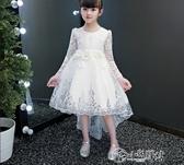 演出服 公主裙女童蓬蓬紗禮服2019新款小主持人氣質拖尾洋裝鋼琴演出服