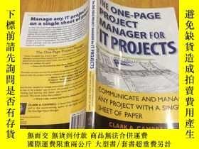 二手書博民逛書店The罕見One Page Project Manager fo