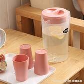 塑料大容量冷水壺涼開水涼水壺杯子家用耐高溫茶水壺涼水杯果汁壺  LannaS