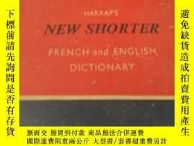 二手書博民逛書店Harlap's罕見New Shorter French and