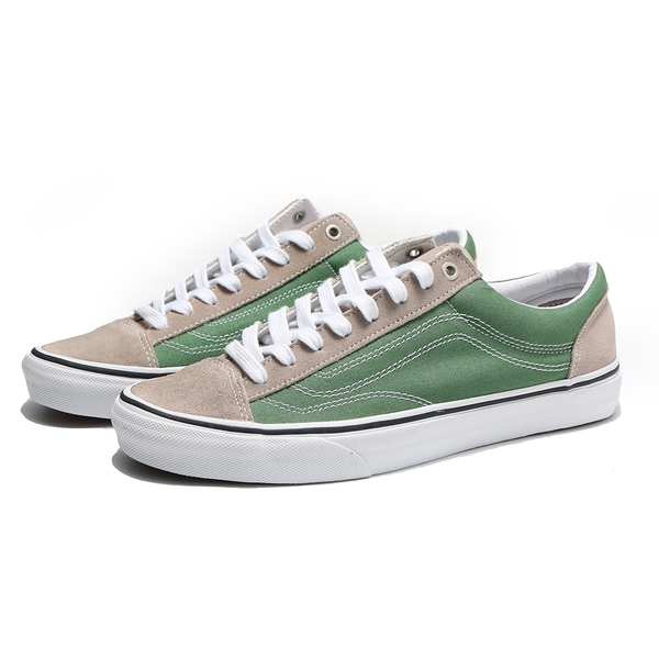 VANS X UA STYLE 36 灰綠 虛線 滑板鞋 男 (布魯克林) VN0A3DZ3T0X
