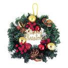 聖誕節 裝飾 佈置 12吋典雅聖誕花圈...