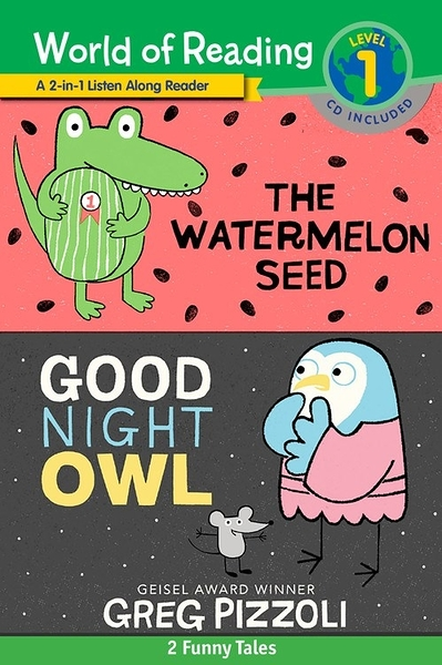 【麥克書店】THE WATERMELON SEED AND GOOD NIGHT OWL/LEVEL 1 / 3合一.英文讀本書+CD
