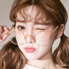 MD韓製-漆邊圓框眼鏡-3色【08040231】