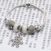 手鍊潘朵拉元素串珠925純銀-琉璃飾品雪花紛飛生日情人節禮物女配件73bf41【時尚巴黎】