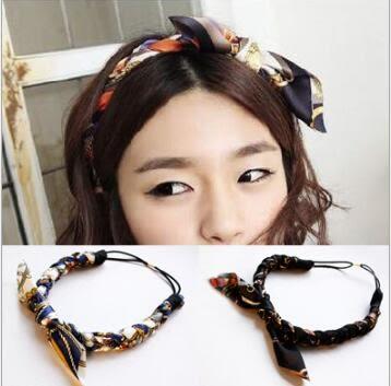 花紋 麻花辮 兔耳朵 髮帶 布藝 韓國 髮飾 頭帶 復古 日韓 流行 清新 甜美 造型 混色