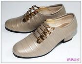 節奏皮件~國標舞鞋女練習鞋編號695 53 銀銅