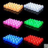 七彩LED電子蠟燭燈浪漫求婚蠟燭套餐包郵婚慶表白創意生日小蠟燭 MKS 歐萊爾藝術館