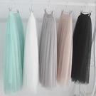 【4010-0430】層次網紗蓬蓬裙 半身裙 (白/黑/灰)