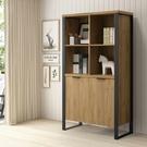 兩色可選/工業風雙門書櫃-經典胡桃/DIY組合產品