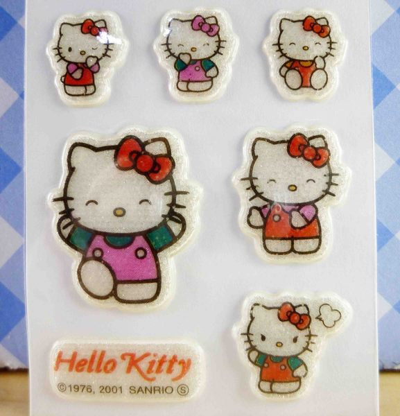 【震撼精品百貨】Hello Kitty 凱蒂貓~KITTY閃亮貼紙-走路粉