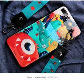 iPhone 6 6S Plus 手機殼 全包防摔保護套 矽膠軟殼 保護殼 手機套 掛繩掛脖 卡通光面 iPhone6