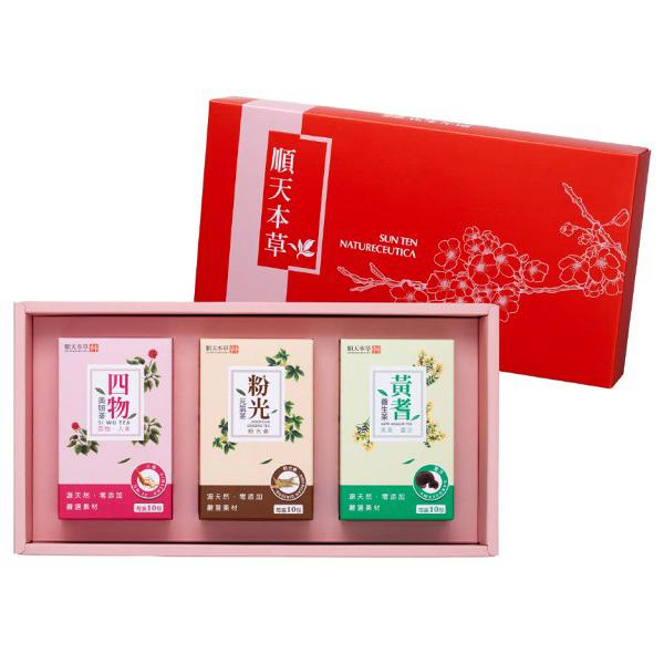 順天本草 養美元氣禮盒(黃耆+粉光+四物)x1