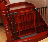 寵物圍欄 門欄兒童安全門圍欄兒童隔離欄桿樓梯口防護欄寵物柵欄jy【快速出貨八折下殺】