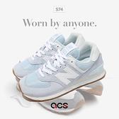 New Balance 休閒鞋 574 藍 白 膠底 復古 女鞋 運動鞋 NB 經典款【ACS】 WL574PE2B