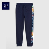 Gap男童 Star Wars星球大戰系列抽繩鬆緊腰長褲 494144-織錦海軍藍