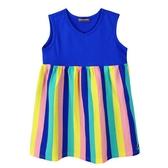 『小鱷魚童裝』拼接條紋洋裝(02號~08號)535382