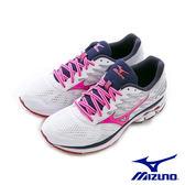 MIZUNO WAVE RIDER 20 暢銷款 慢跑鞋 白桃 J1GD170366 女鞋