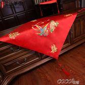 頭紗 中式復古紅色流蘇蓋頭大紅色繡花蓋頭秀禾服蓋頭龍鳳褂 coco衣巷