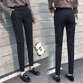 西裝褲 哈倫褲女秋季黑色褲子香蕉褲冬款加絨九分高腰小腳休閒西裝褲長褲 poly girl
