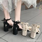 高跟鞋粗跟夏季晚晚風溫柔涼鞋女潮糖糖女屋