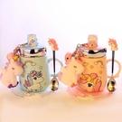 陶瓷保溫杯 正韓創意卡通少女心陶瓷杯子可愛超萌水杯