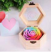 送女友結婚回禮生日實用創意香肥皂花木盒元旦盒手信QM 莉卡嚴選