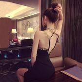 夜店性感氣質低胸露背修身包臀連身裙
