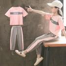 女童夏裝套裝2019新款兒童裝時尚洋氣網紅13歲女孩夏季運動中大童 嬌糖小屋