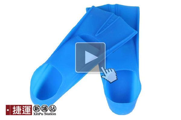 套腳式矽膠浮潛水蛙蹼鞋-XL