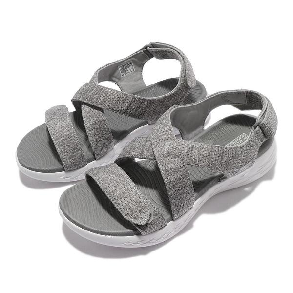 Skechers 涼拖鞋 On-The-Go 600 女 灰 白 可調式 夏日必備 涼鞋【ACS】 140027GRY
