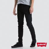Levis 男款 上寬下窄 512低腰修身窄管牛仔褲 / 黑色基本款 / 仿舊紙標 / 彈性布料