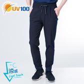 UV100 防曬 抗UV-涼感跳色出芽彈力縮口褲-男