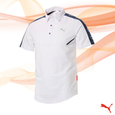 PUMA GOLF 日本線 男版 翻領雙肩印花POLO衫 CA Shoulder Panel 白 923859 03