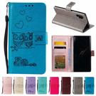 三星 Note10 Note10+ S10 S10+ 戀愛貓頭鷹 手機皮套 插卡 支架 掀蓋殼 壓紋 可掛繩 保護套